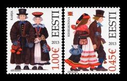 Estonia 2013 Mih. 759/60 Folk Costumes MNH ** - Estonia