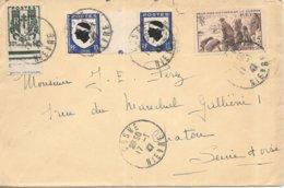 Lettre Cosne Nievre Armoirie Corse 1947 - Storia Postale