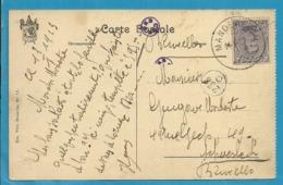 139 Op Kaart Met Stempel  MANDERFELD (Oostkantons - Cantons De L'Est) - [OC55/105] Eupen/Malmedy