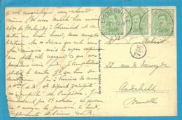 137 Op Kaart Met Stempel  LIGNEUVILLE (Oostkantons - Cantons De L'Est) - [OC55/105] Eupen/Malmedy