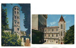 """30 - UZÈS . LE DUCHÉ . """" Tour Fenestrelle  """" & """" Façade Renaissance """" . 2 CPM - Réf. N°22993 - - Uzès"""