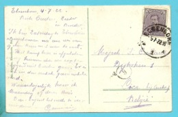 139 Op Kaart Met Stempel ELSENBORN (Oostkantons - Cantons De L'Est) - [OC55/105] Eupen/Malmedy