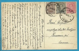 136+138+183 (tricolor) Op Kaart Met Stempel MALMEDY (Oostkantons - Cantons De L'Est) - [OC55/105] Eupen/Malmedy
