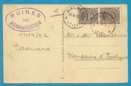 136 Op Kaart Met Stempel MALMEDY (Oostkantons - Cantons De L'Est) - [OC55/105] Eupen/Malmedy