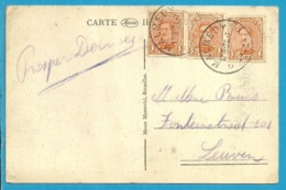 135 Op Kaart Met Stempel MALMEDY (Oostkantons - Cantons De L'Est) - [OC55/105] Eupen/Malmedy