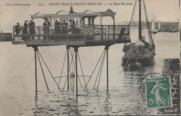 SAINT MALO - SAINT SERVAN - Le Pont Roulant (petite Animation, Voilier) - Saint Malo