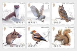 Jersey 2019 - Links With China - Woodland Wildlife Stamp Set Mnh - Jersey