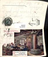 635402,Reklame Lithographie Hubert V. Zwickle Bräustübl Salzburg Bier - Werbepostkarten