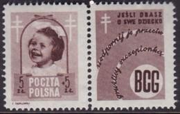 POLAND 1948 Anti-TB Fi 486 PW4 Mint Hinged - Unused Stamps
