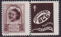 POLAND 1948 Anti-TB Fi 486 PW1 Mint Hinged - Unused Stamps