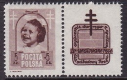 POLAND 1948 Anti-TB Fi 486 Pw6 Mint Hinged - Unused Stamps