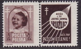 POLAND 1948 Anti-TB Fi 486 Pw2 Mint Hinged - Unused Stamps