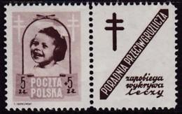 POLAND 1948 Anti-TB Fi 486 Pw9 Mint Hinged - Unused Stamps