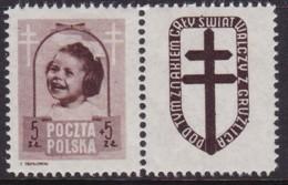 POLAND 1948 Anti-TB Fi 486 Pw8 Mint Hinged - Unused Stamps