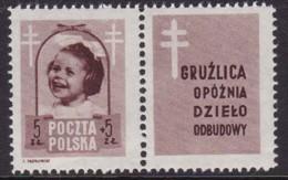 POLAND 1948 Anti-TB Fi 486 Pw5 Mint Hinged - Unused Stamps