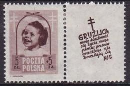 POLAND 1948 Anti-TB Fi 486 Pw10 Mint Hinged - Unused Stamps
