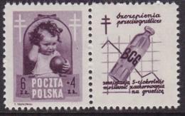 POLAND 1948 Anti-TB Fi 487 Pw7 Mint Hinged - Unused Stamps