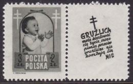 POLAND 1948 Anti-TB Fi 485 Pw10 Mint Hinged - Unused Stamps