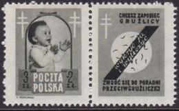 POLAND 1948 Anti-TB Fi 485 Pw3 Mint Hinged - Unused Stamps
