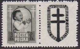 POLAND 1948 Anti-TB Fi 485 Pw8 Mint Hinged - Unused Stamps