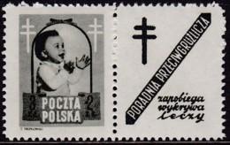 POLAND 1948 Anti-TB Fi 485 Pw9 Mint Hinged - Unused Stamps