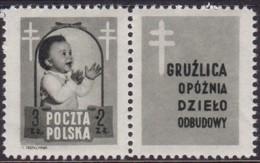 POLAND 1948 Anti-TB Fi 485 Pw5 Mint Hinged - Unused Stamps