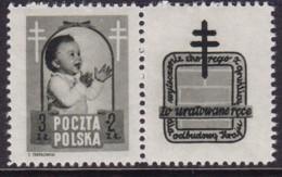 POLAND 1948 Anti-TB Fi 485 Pw6 Mint Hinged - Unused Stamps