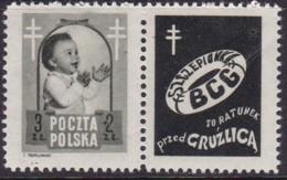 POLAND 1948 Anti-TB Fi 485 Pw1 Mint Hinged - Unused Stamps