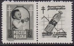 POLAND 1948 Anti-TB Fi 485 Pw7 Mint Hinged - Unused Stamps