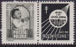 POLAND 1948 Anti-TB Fi 485 Pw2 Mint Hinged - Unused Stamps