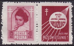 POLAND 1948 Anti-TB Fi 488 Pw2 Mint Hinged - Unused Stamps
