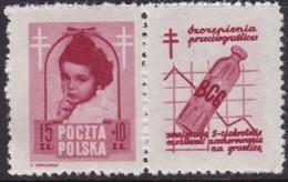 POLAND 1948 Anti-TB Fi 488 Pw7 Mint Hinged - Unused Stamps