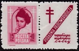 POLAND 1948 Anti-TB Fi 488 Pw9 Mint Hinged - Unused Stamps