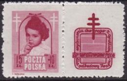 POLAND 1948 Anti-TB Fi 488 Pw6 Mint Hinged - Unused Stamps