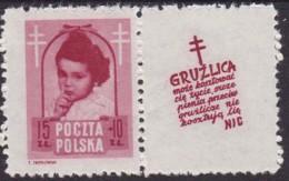 POLAND 1948 Anti-TB Fi 488 Pw10 Mint Hinged - Unused Stamps