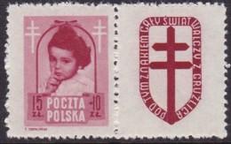 POLAND 1948 Anti-TB Fi 488 Pw8 Mint Hinged - Unused Stamps