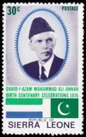 SIERRA LEONE - Scott #439 Centenary Of The Birth Of Muohammad Ali Jinnah / Mint NH Stamp - Otros - África