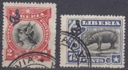 LIBERIA - 1906 - Lotto Composto Da 2 Valori Usati: Yvert Servizio 46 E 54. - Liberia