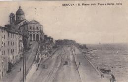 GENOVA-SAN PIERO DELLA FOCE E CORSO ITALIA-CARTOLINA VIAGGIATA IL 3-9-1925 - Genova (Genua)