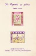 LIBERIA - 1955 - Foglietto Yvert BF7, Nuovo Non Dentellato, Non Linguellato, Con Due Leggerissime Imperfezioni - Liberia