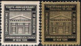 Armenian Evangelical Church Of New York.Tenth Anniversary. Christmas, 1933 2v Quality:100% - Armenia
