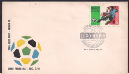 Uruguay - 1970 - FDC - Coupe Du Monde Mexique '70 - Uruguay