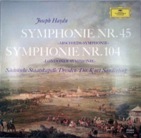 * LP *   HAYDN: SYMPHONIE Nr.45 & 104 - Sächsische Staatskapelle Dresden, / Kurt Sanderling (Germany 1967) - Klassik