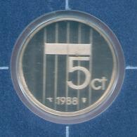 1988 * 5 Cent  Uit PROOF-SET  * NEDERLAND * - [ 3] 1815-… : Koninkrijk Der Nederlanden