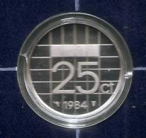1984 * 25 Cent  Uit PROOF-SET  * NEDERLAND * - 1980-…: Beatrix