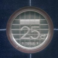 1988 * 25 Cent  Uit PROOF-SET  * NEDERLAND * - [ 3] 1815-… : Koninkrijk Der Nederlanden
