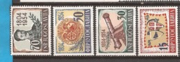 1954  751-54    JUGOSLAVIJA JUGOSLAWIEN  MILITARI 150 JAHR AUFSTAND GEGEN TURKEN    LUX MNH - 1945-1992 Repubblica Socialista Federale Di Jugoslavia