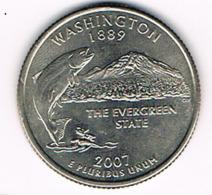 """¼ Dollar """"Washington Quarter"""" Washington, 2007, UNC - EDICIONES FEDERALES"""