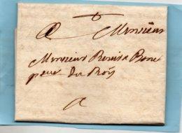 Courier Local De PERPIGNAN,écrit En Catalan,1753,au Procureur Du Roi. - Poststempel (Briefe)