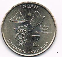 "¼ Dollar ""Washington Quarter"" Guam, 2009, UNC - 1999-2009: State Quarters"